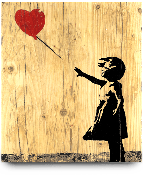 banksy bild girl with a balloon von urbankunst
